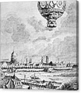 Balloon Flight, 1783 Canvas Print