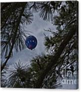 Balloon In The Pines Canvas Print