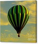 Balloon Ride Through Gold Clouds Canvas Print