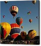 Balloons At Flight Canvas Print