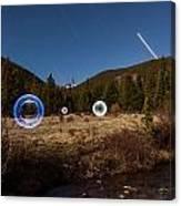 Balls Of Light Field Canvas Print