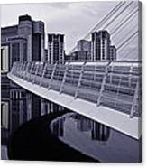 Baltic And Gateshead Millennium Bridge Canvas Print