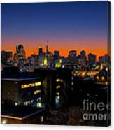 Baltimore At Sunset Canvas Print