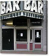 Baltimore Bar Canvas Print