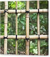 Bamboo Fence Detail Meiji Jingu Shrine Canvas Print