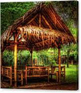 Bamboo Hut   Canvas Print