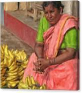 Banana Seller Canvas Print
