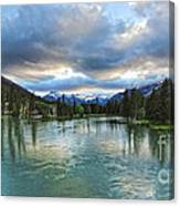 Banff And The Bow River - 01 Canvas Print