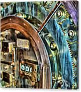 Bank Vault Door Canvas Print