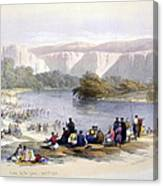 Banks Of The Jordan, 1839, Lithograph Canvas Print