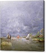 Banks Of The Loire In Spring Canvas Print