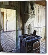 Bannack Ghost Town Kitchen Stove 2 Canvas Print