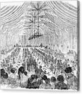 Banquet, 1851 Canvas Print
