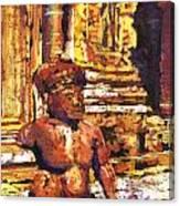 Banteay Srei Statue Canvas Print