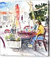 Bar Avenida En El Albir In Spain Canvas Print