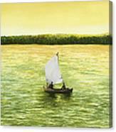 Bar Harbor Sailboat Canvas Print