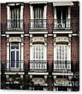 Barcelona Balconies Canvas Print