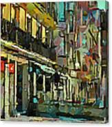 Barcelona Cafe Canvas Print