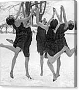 Barefoot Dance In The Snow Canvas Print