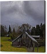 Barn And Sky Canvas Print