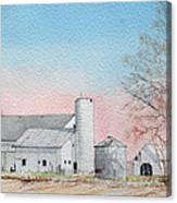 Barn And Sycamore Canvas Print