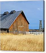 Barn In Calgary Canvas Print