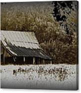 Barn In The Field Canvas Print