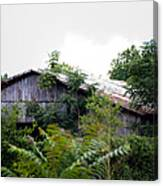 Barn In The Storm Canvas Print