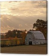 Barn In Warming Storm Canvas Print