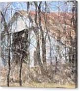 Barn Through Trees Canvas Print