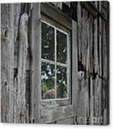 Barn Window Reflection Canvas Print