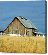 Barn With Stormy Skies Canvas Print