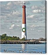 Barnegat Lighthouse - New Jersey - Christmas Card Canvas Print