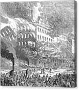 Barnums Museum Fire, 1865 Canvas Print