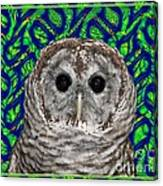 Barred Owl In A Fractal Tree Canvas Print