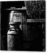 Barrel In The Barn Canvas Print