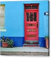Barrio Door Pink Canvas Print