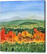 Barton Vermont Autumn Canvas Print