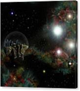Base In Space Canvas Print