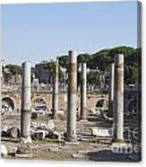 Base Of Trajan's Column And The Basilica Ulpia. Rome Canvas Print