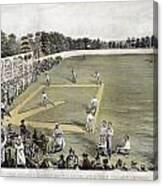 Baseball, 1866 Canvas Print