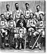 Baseball: Canada, 1874 Canvas Print