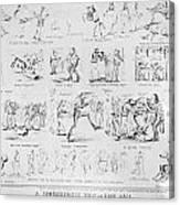 Baseball Cartoons, 1859 Canvas Print