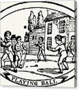 Baseball Game, 1820 Canvas Print