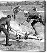 Baseball Game, 1885 Canvas Print