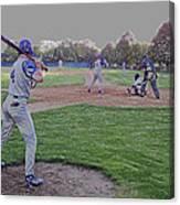 Baseball On Deck Digital Art Canvas Print