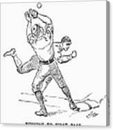 Baseball Players, 1889 Canvas Print