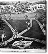 Baseball Polka, 1867 Canvas Print