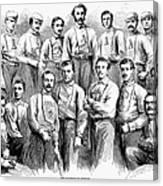 Baseball Teams, 1866 Canvas Print