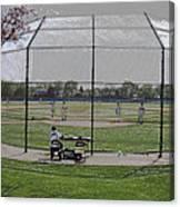 Baseball Warm Ups Digital Art Canvas Print